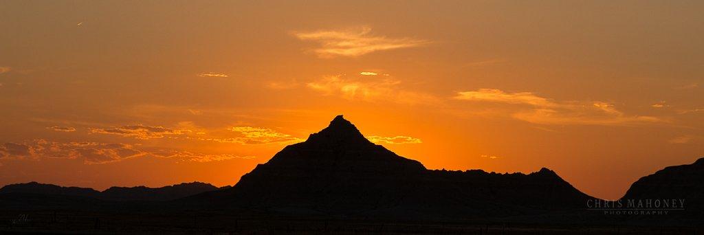 Cowboy Sunset - Badlands National Park
